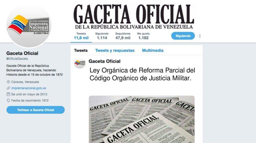 CÓDIGO ORGÁNICO DE JUSTICIA MILITAR