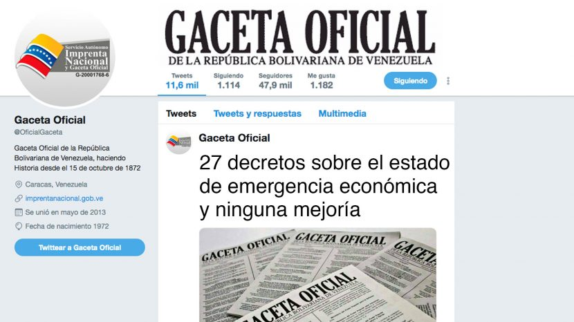 27 decretos sobre el estado de emergencia económica y ninguna mejoría