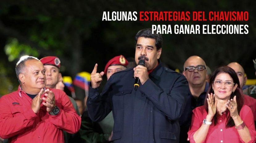 Algunas estrategias del chavismo para ganar elecciones