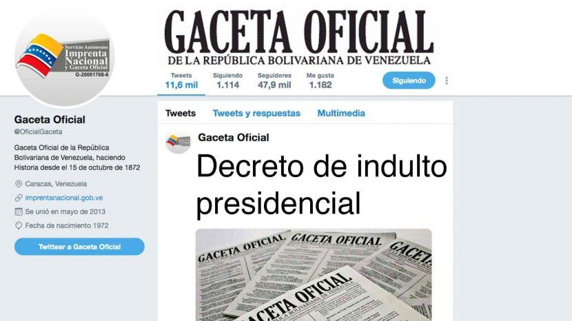 Decreto de indulto presidencial