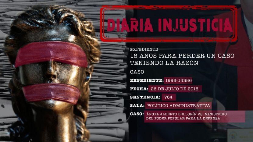 Diaria Injusticia 2020 - 18 años para perder un caso teniendo la razón
