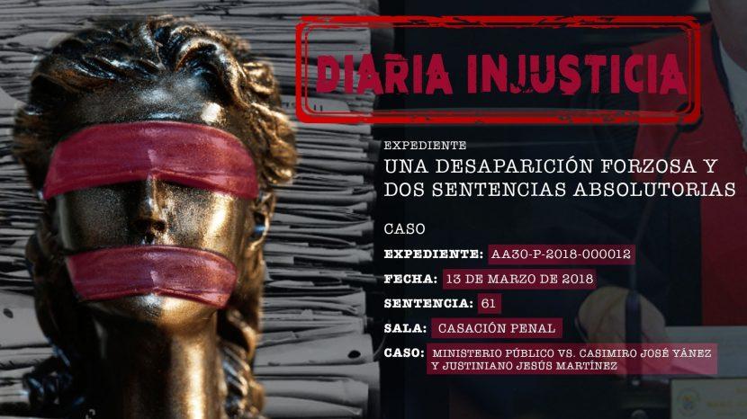Diaria Injusticia 2020-Una desaparición forzosa