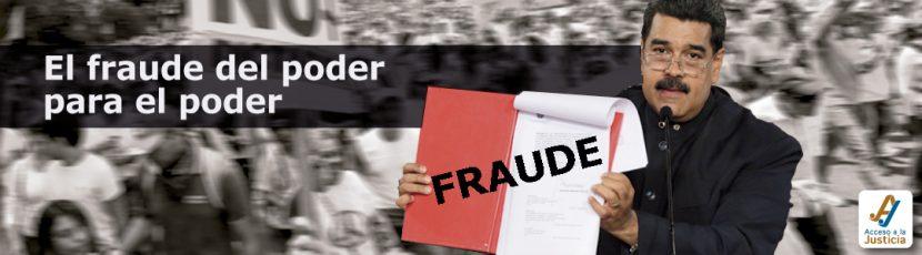 El fraude del Poder para el Poder