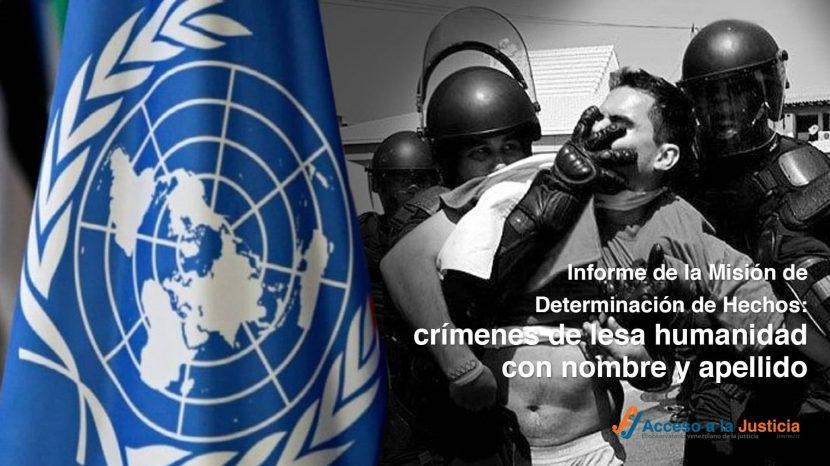 Informe de la Misión de Determinación de Hechos crímenes de lesa humanidad con nombre y apellido