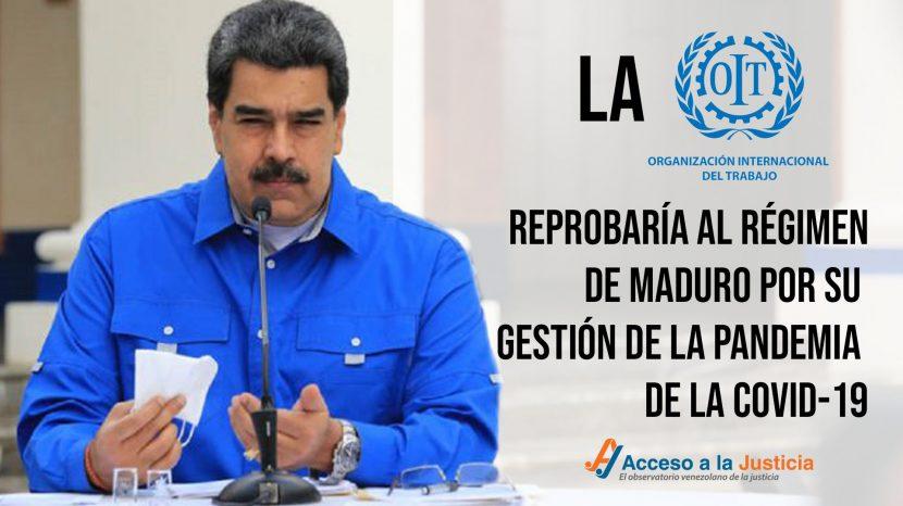 La OIT reprobaría al régimen de Maduro por su gestión de la pandemia del COVID-19