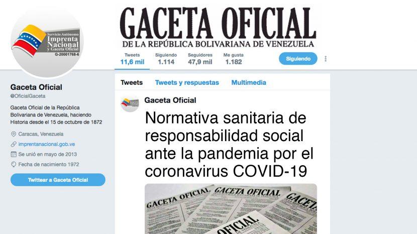 Normativa sanitaria de responsabilidad social ante la pandemia por el coronavirus COVID-19