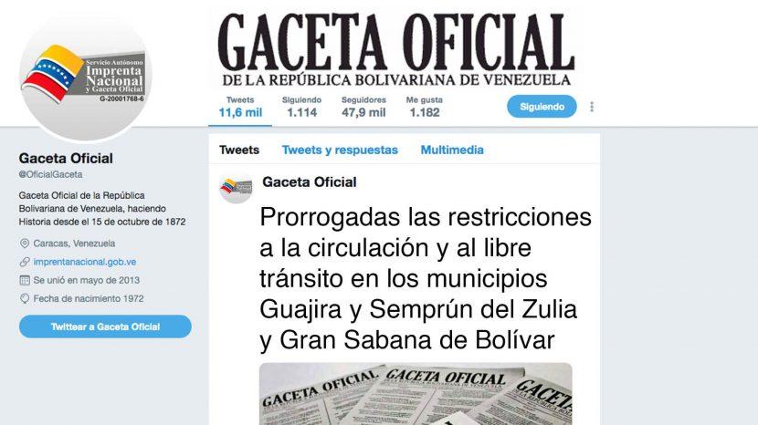 Prorrogadas las restricciones a la circulación y al libre tránsito en los municipios.....