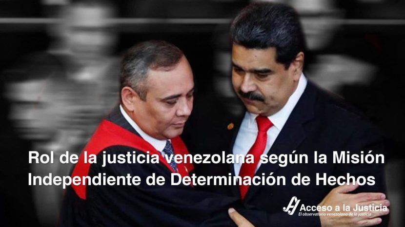 Rol de la justicia venezolana según la misión independiente de determinación de hechos