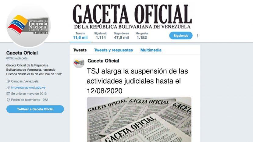 TSJ alarga la suspensión de las actividades judiciales hasta el 12.08.2020
