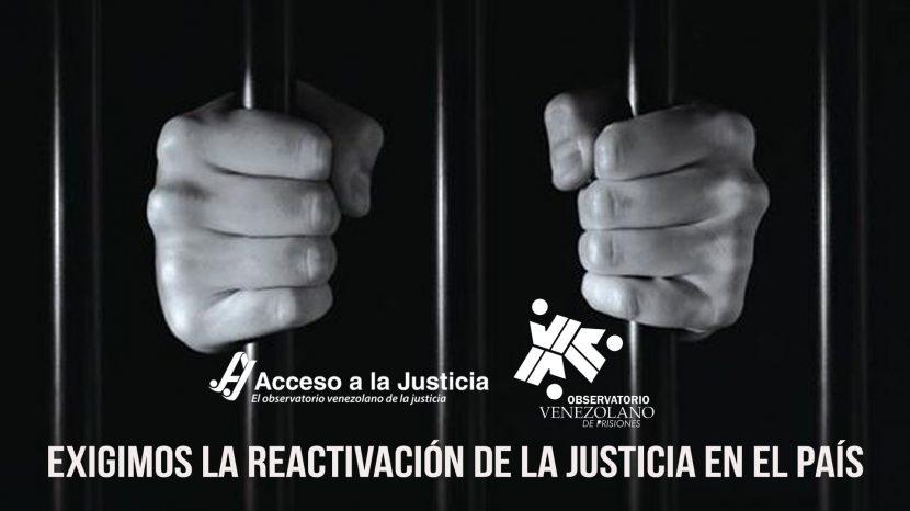 exigimos la reactivación de la justicia en el país